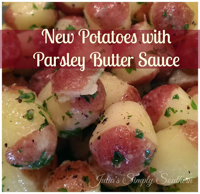New Potatoes with Parsley Butter Sauce