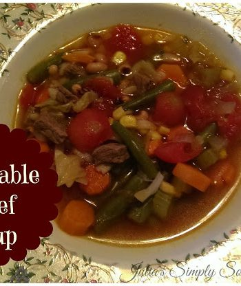 Delicious homemade vegetable beef soup - Julia's Simply Southern