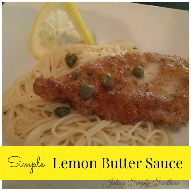 Lemon butter sauce with chicken and pasta