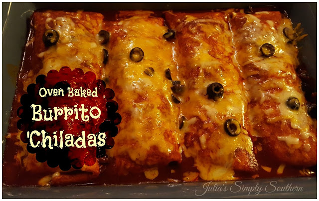 Oven Baked Burritos 'Chiladas - Smothered