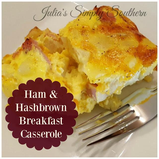 Delicious breakfast casserole with ham