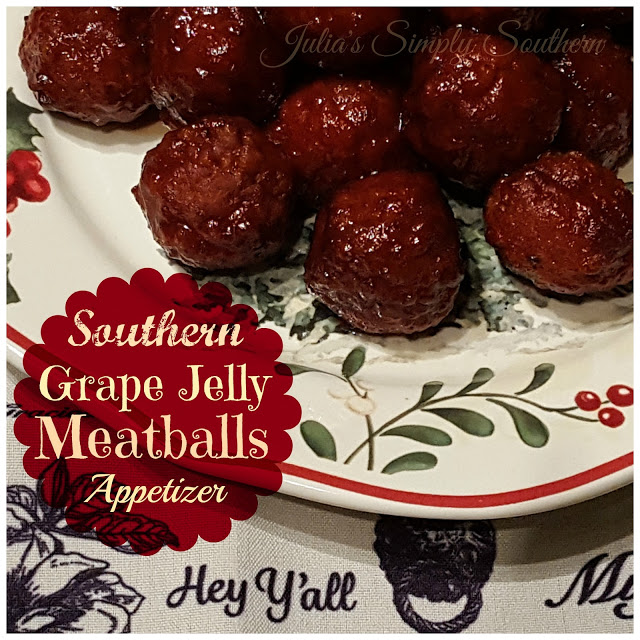 Southern Grape Jelly Meatball Appetizers