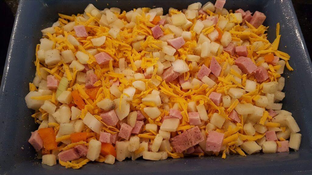 Ham and Hashbrown Breakfast Casserole