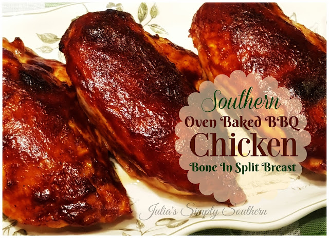 Southern Baked Barbecue Chicken (Bone In Split Breast)