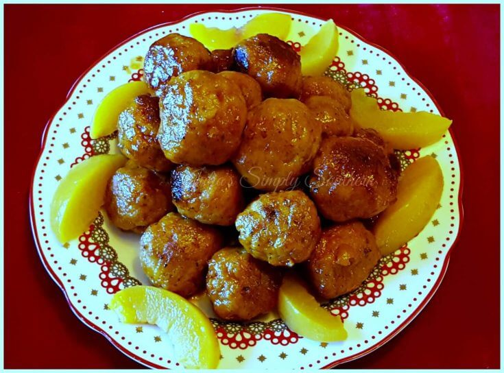 Peach turkey meatballs