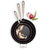 "All-Clad HA1 Nonstick Set of 3 Skillets, 8"", 10"" and 12"""