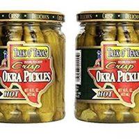 Talk O Texas Okra Pickles, Hot, 16 oz (Pack of 2)