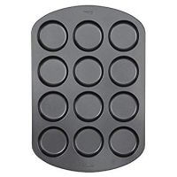 "Wilton 12-Cavity Whoopie Pie Baking Pan, Makes Individual 3"" Diameter Baked Goods and Treats, Non-Stick and Dishwasher-Safe, Enjoy or Give as Gift, Metal (1 Pan)"