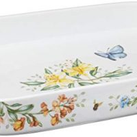 Lenox Butterfly Meadow Rectangular Baker , White - 855621