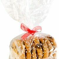 StarPack Premium Cellophane Treat Bags, Party Favor Bags, Christmas Cookie Bags - Set of 20, Bonus 101 Cooking Tips (Regular Size)