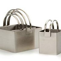 RSVP Endurance Stainless Steel Set of 4 Biscuit Cutters, Plain Edged Square