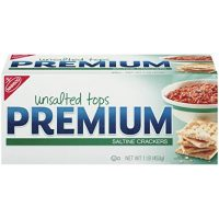 Premium Saltine Crackers, Unsalted Tops, 16 Ounce