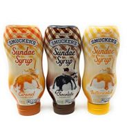 Smuckers Sundae Syrup Caramel, Butterscotch & Chocolate Ice Cream Topping Bundle 20 Oz (Variety Pack of 3)