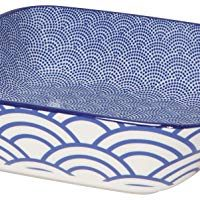 Now Designs 5092013aa Stamped Porcelain Baking Dish, 8 x 8 Inch/1.3 Quart Capacity, Lazurite Design