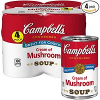 Campbell's Condensed Cream of Mushroom Soup, 10.5 oz. Can, 4 Count