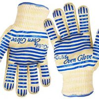 Revolutionary EN407 Standard Gulife oven glove withstands heat up to 662F over 15S - EN407 Standard level3 - Gift box packaging(2 gloves included)