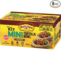 Old El Paso Mini Tortilla Bowl Dinner Kit Flour, (Pack of 8)