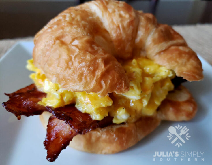 Bacon Egg and Cheese Croissant Sandwiches