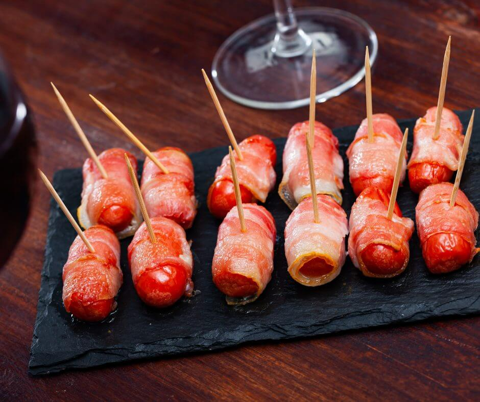 bacon wrapped lil smokies cocktail weenies