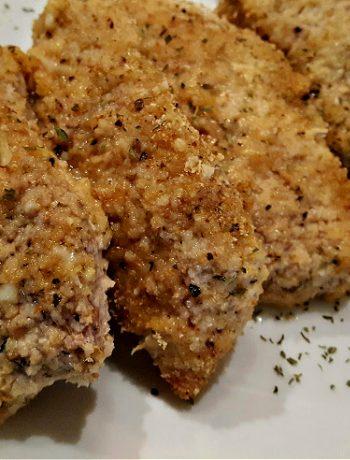 Baked breaded pork chops