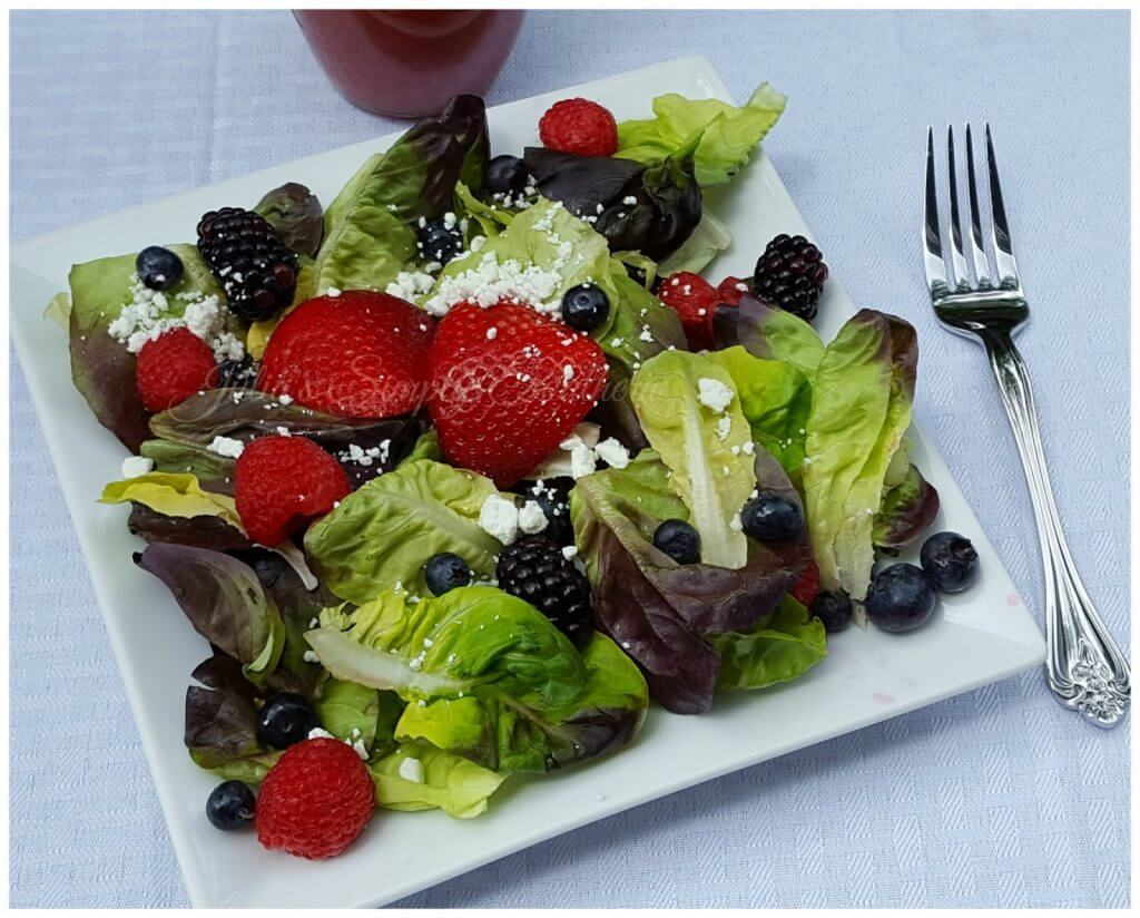 Mixed Berry Salad with Raspberry Dressing