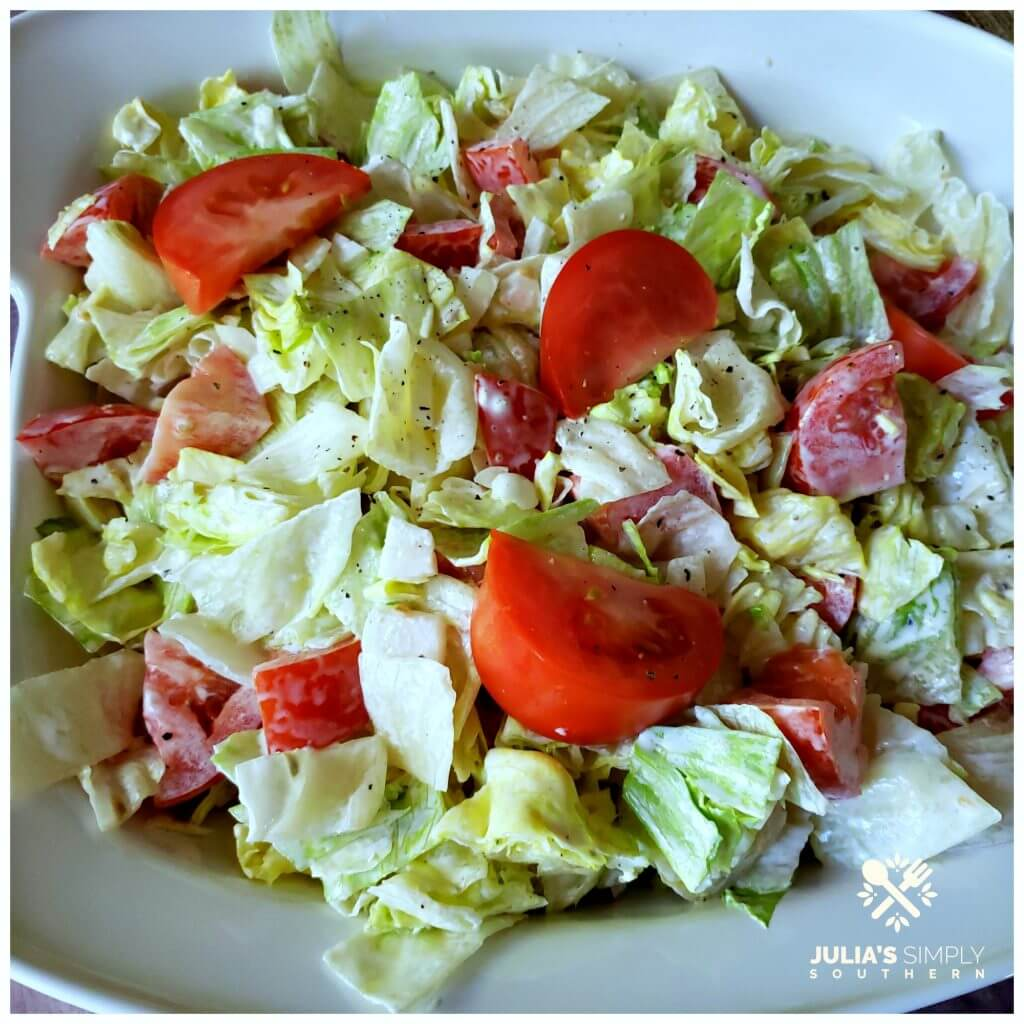 Recipe for how to make a classic mayonnaise salad with photos of mayonnaise salad served in a white platter