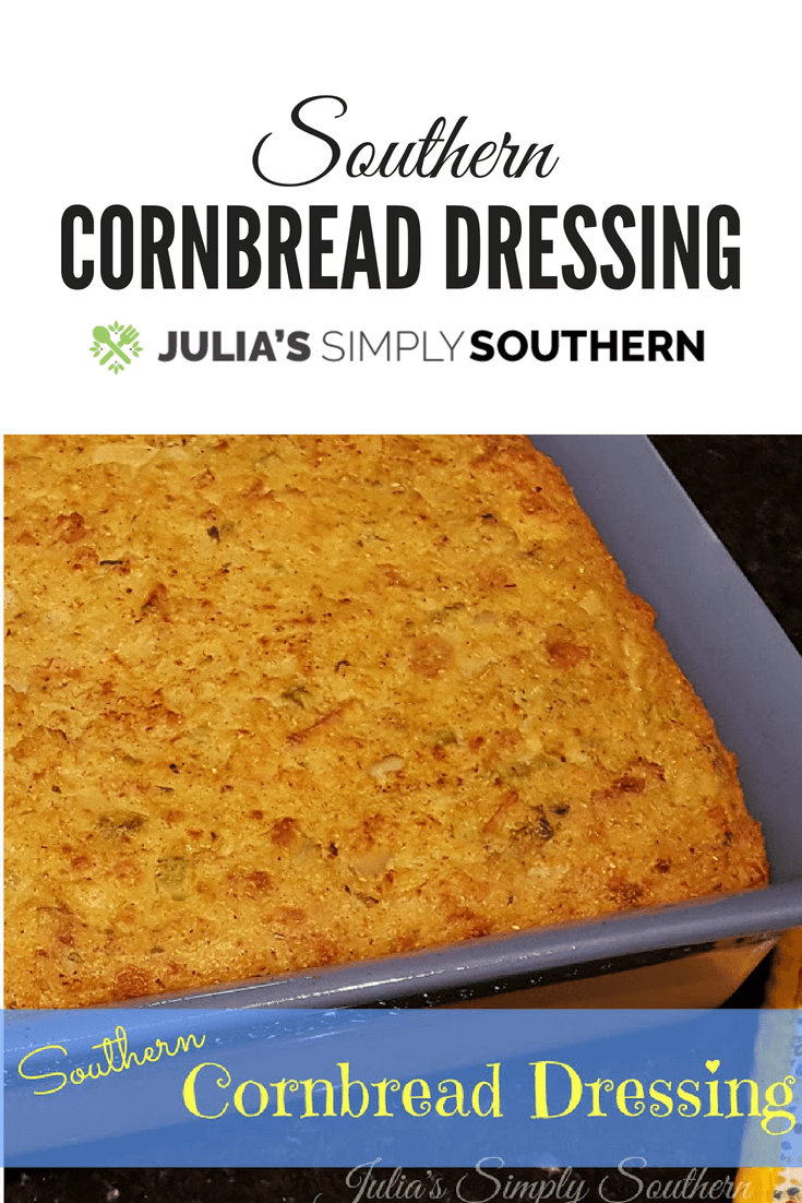 Southern Cornbread Dressing #Holidays #Dressing #Cornbread #Thanksgiving #Christmas