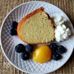 Pound Cake from scratch - slice on a plate - paula