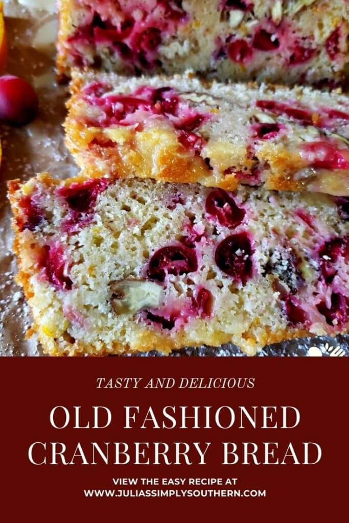 Holiday Cranberry Bread Recipe - Pin Image