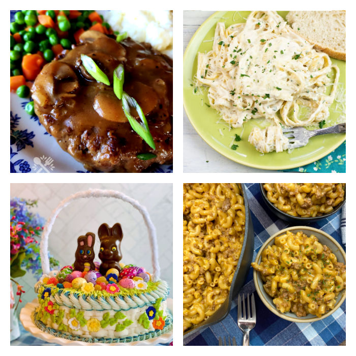 Collage of featured recipes at Meal Plan Monday 259