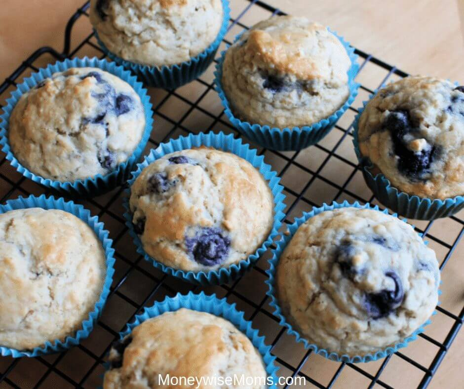 Blueberry Oatmeal Muffins Recipe - Easy Baking Ideas