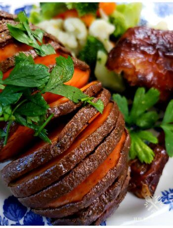 How to make delicious Hasselback sweet potatoes in the oven
