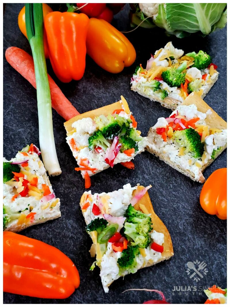 Best ever cold vegetable pizza appetizer recipe