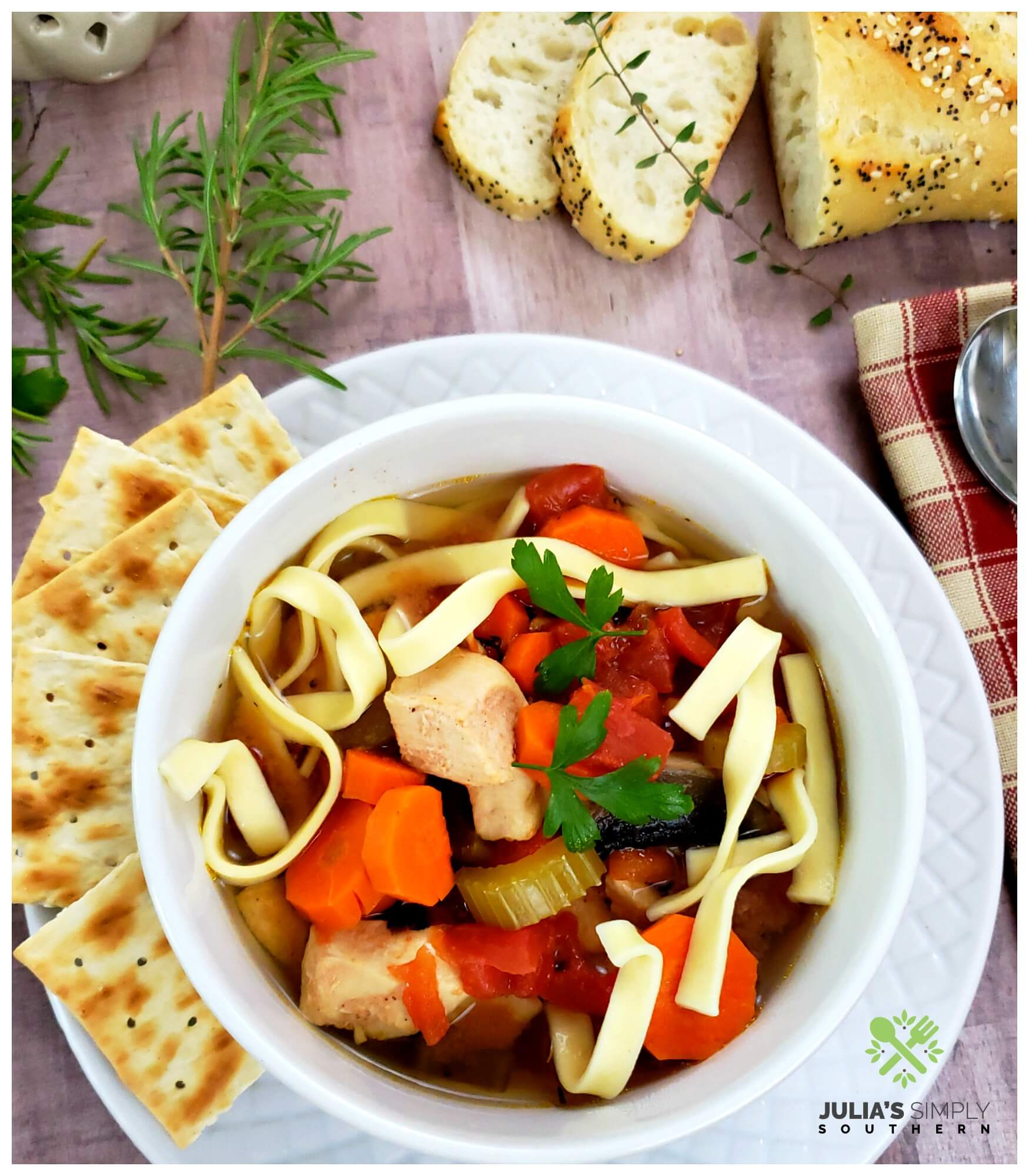 Grandmas Slow Cooker Chicken Noodle Soup recipe