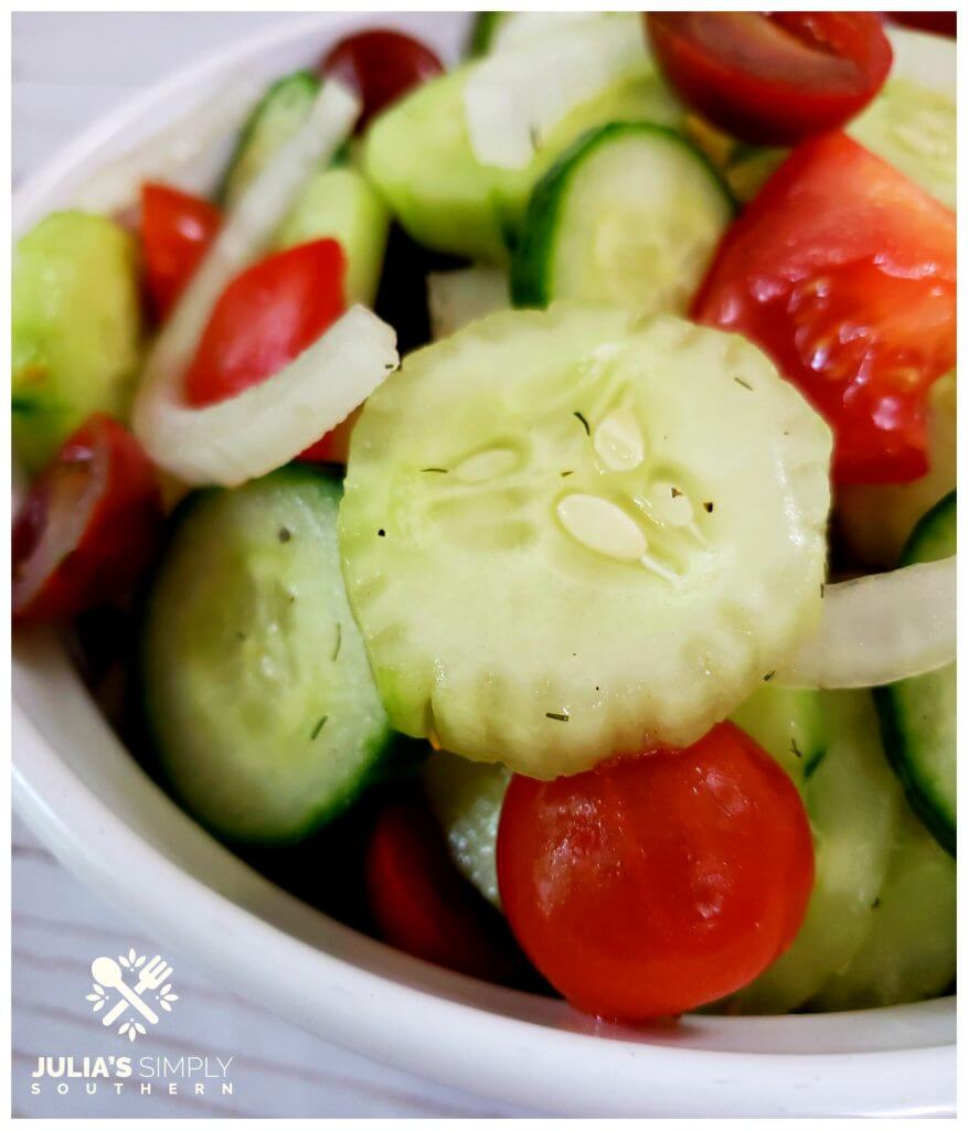 Delicious Cucumber, Tomato and Onion Salad Recipe with fresh vegetables
