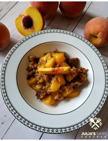 Coconut Sugar Peach Cobbler is healthier and diabetic friendly. This easy summer dessert is best with fresh peaches.