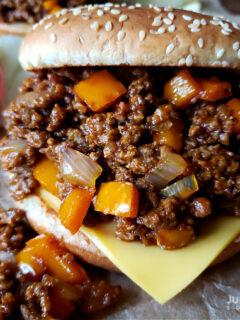 Homemade Sloppy Joes - a loose meat sandwich on a bun