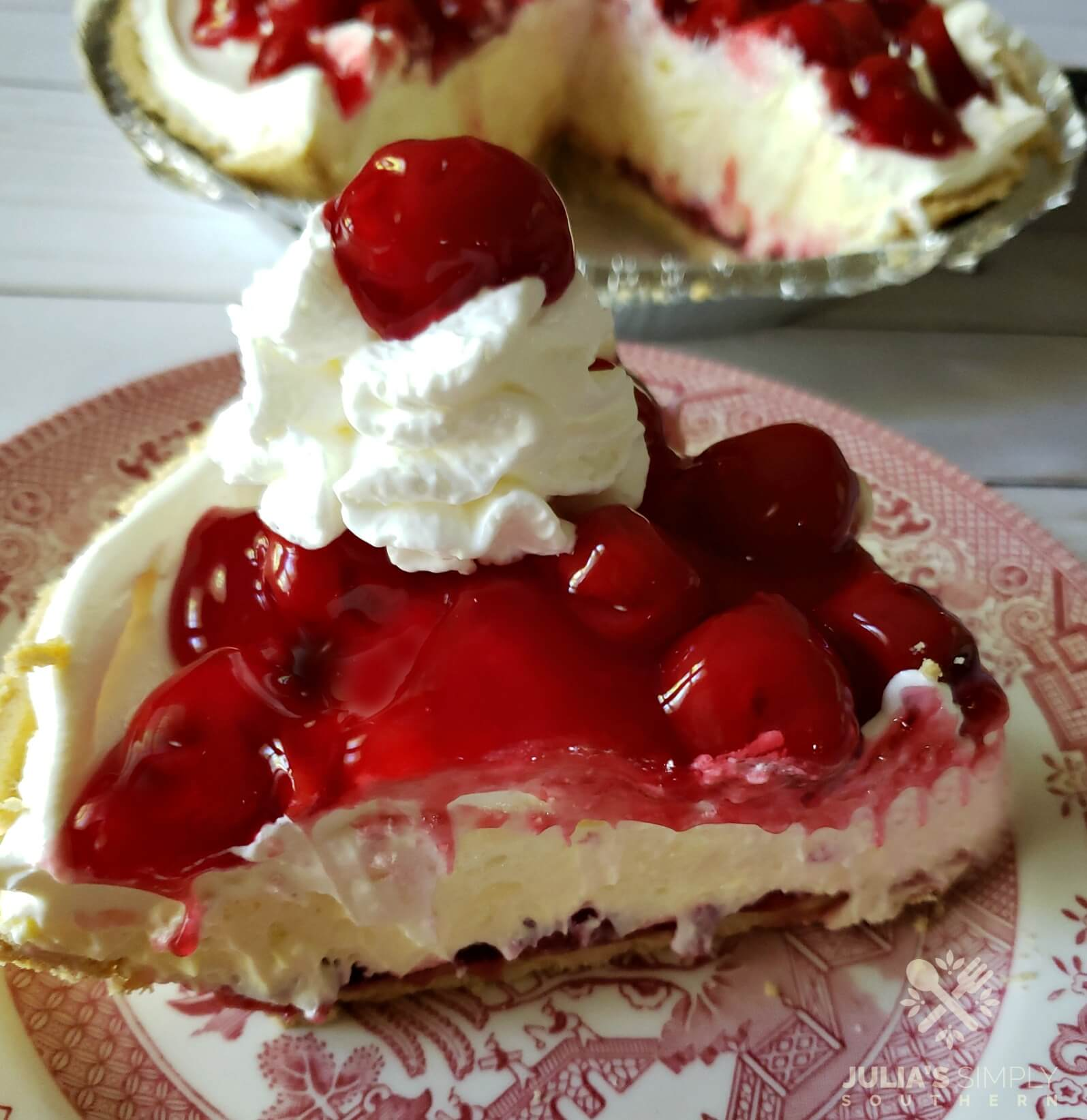 No Bake Cherry Cheese Pie Recipe. This no bake dessert is always a hit at gatherings.