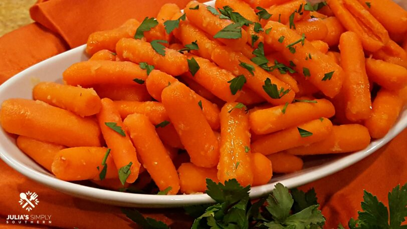 Glazed Carrots with honey and ginger are a healthy delicious side dish recipe