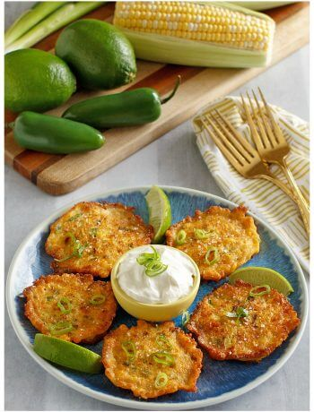 How to make the best corn fritters ever with sweet corn. Serve these golden nuggets on a plate with dipping sauce for a real treat as an appetizer or snack.