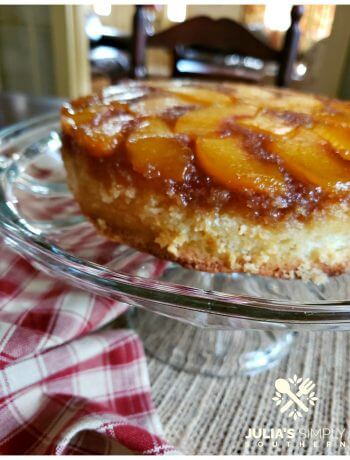 Southern Peach Upside Down Cake Recipe - Easy - Delicious - Late Summer