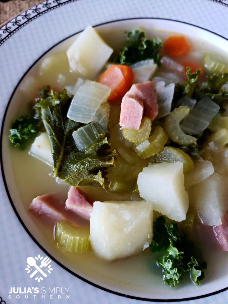 Ham Potato Kale Soup Recipe photo