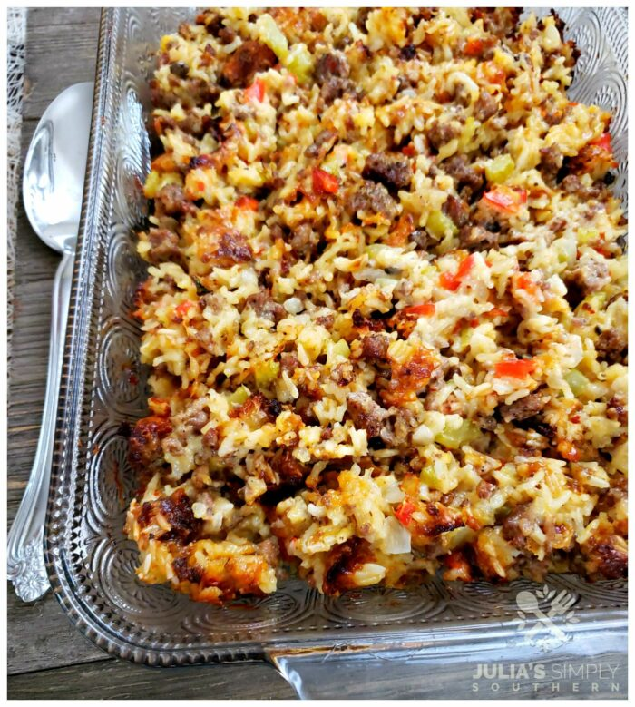 Amazing recipe for sausage and rice casserole