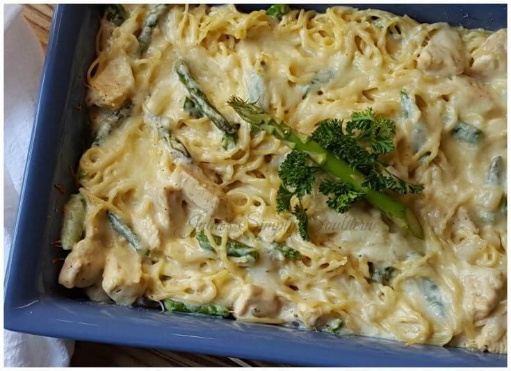 Chicken and Asparagus Pasta Casserole Bake