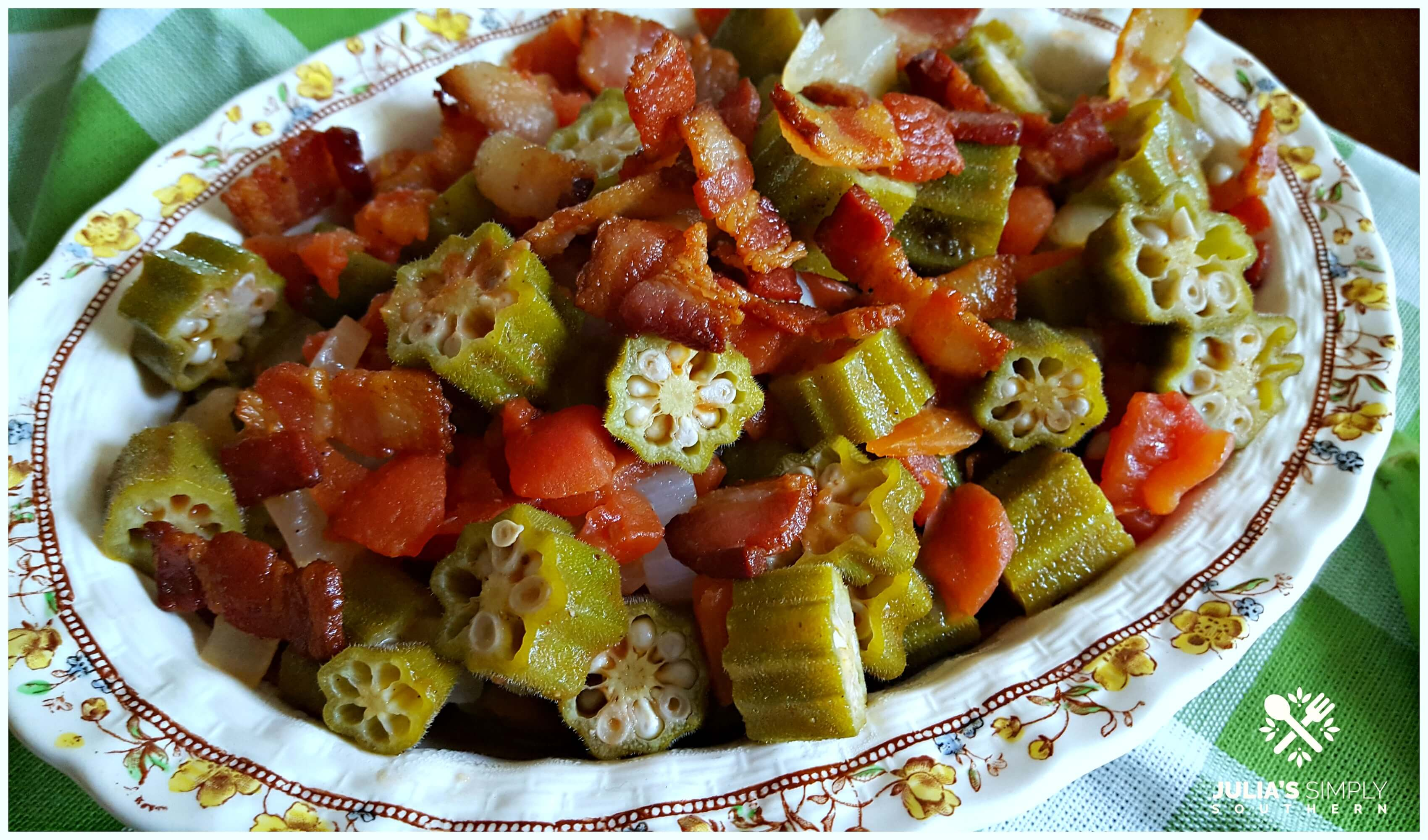 classic okra and tomatoes