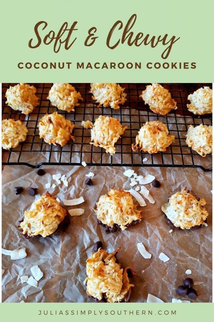 Easy Coconut Macaroons Recipe - Pin Image