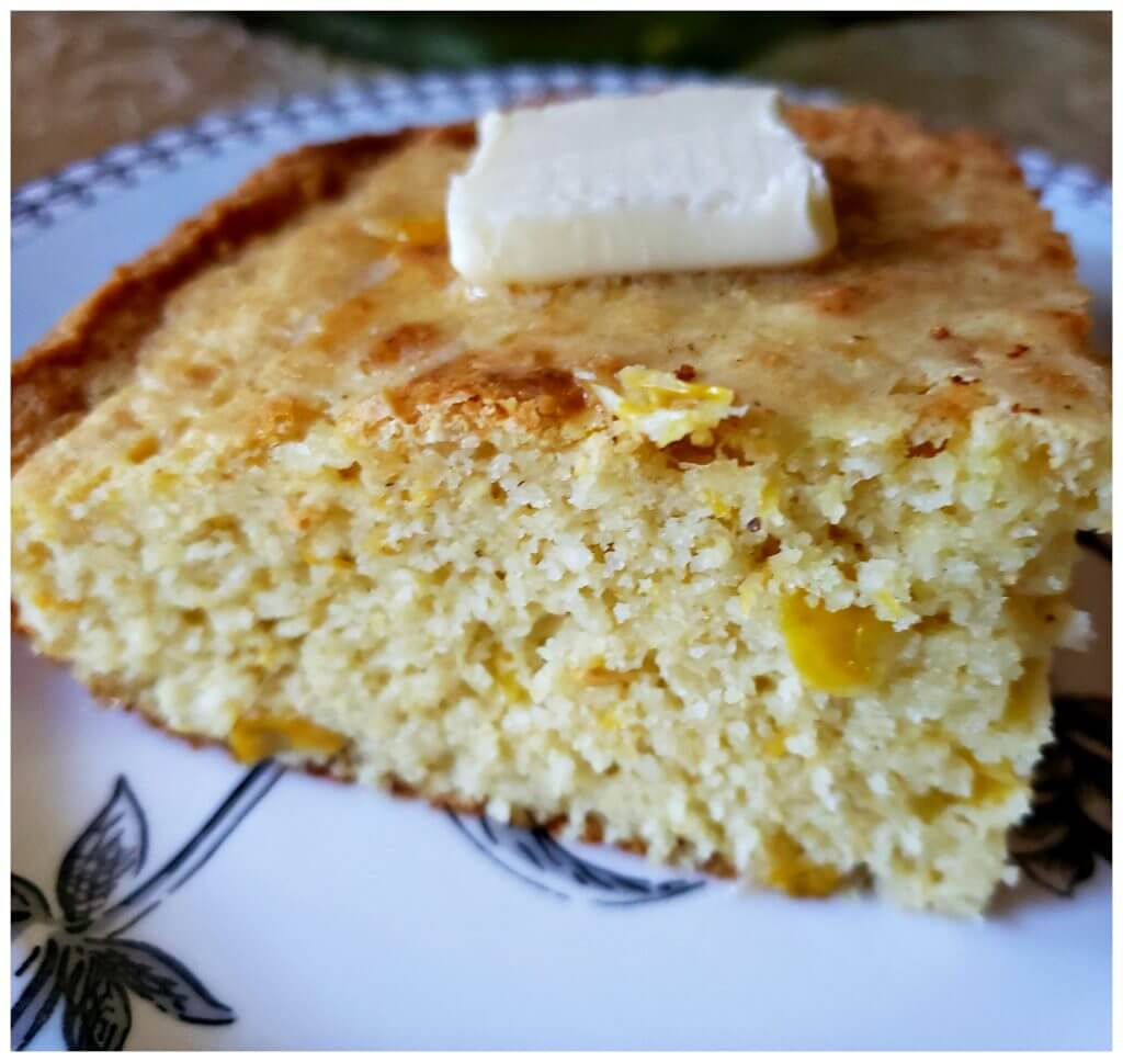 Cornbread made with creamed corn and sour cream