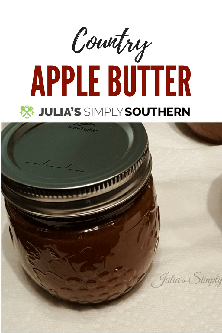 Country Apple Butter made on the stove top #apples #fall #easyrecipe #canning   Julia's Simply Southern