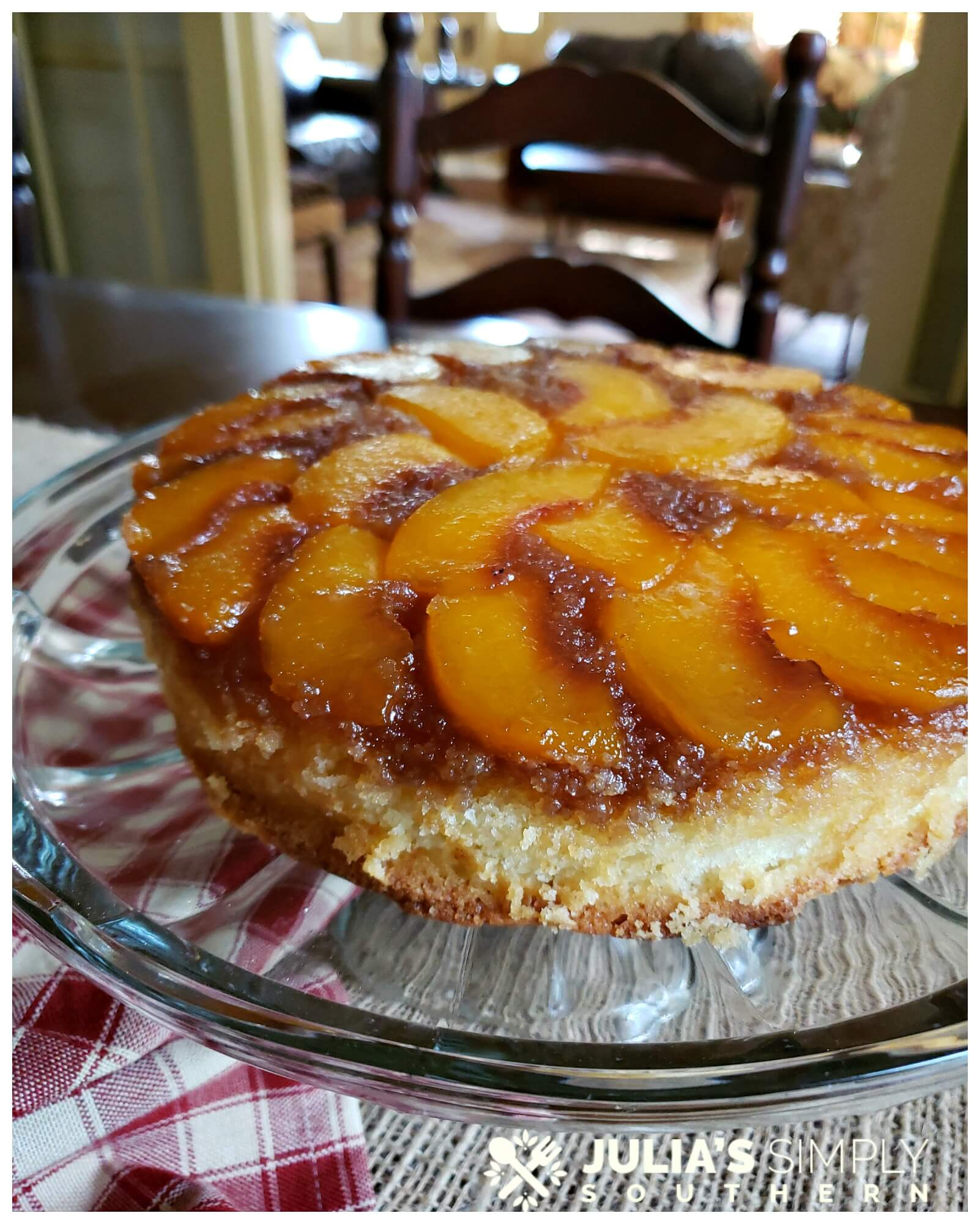 Beautiful peach cake