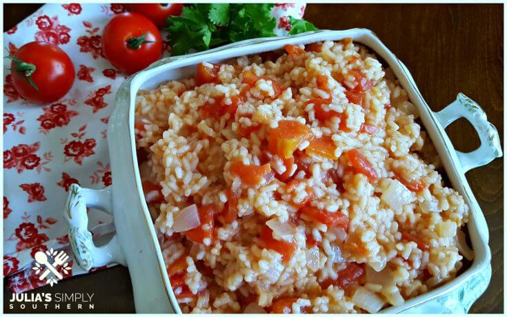Classic Old Fashioned Southern Tomatoes and Rice Side Dish Recipe